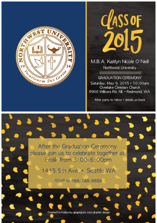 MBA Graduation Ceremony Invitation