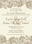 Schaub Wedding Invitation
