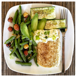 Baked Mahi Mahi and Green Bean Salad